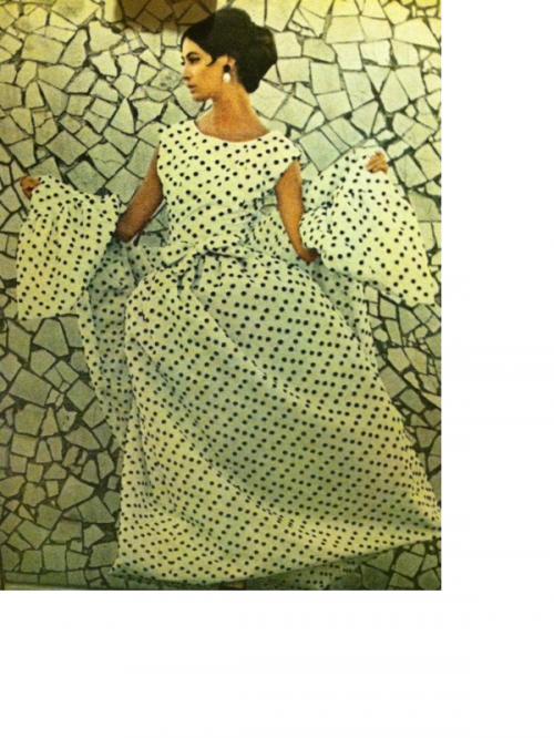 historical novelChenillePolkaDotBallGownLifeMagazine1964 e1345228591890 Short skirts and Go Go Boots!