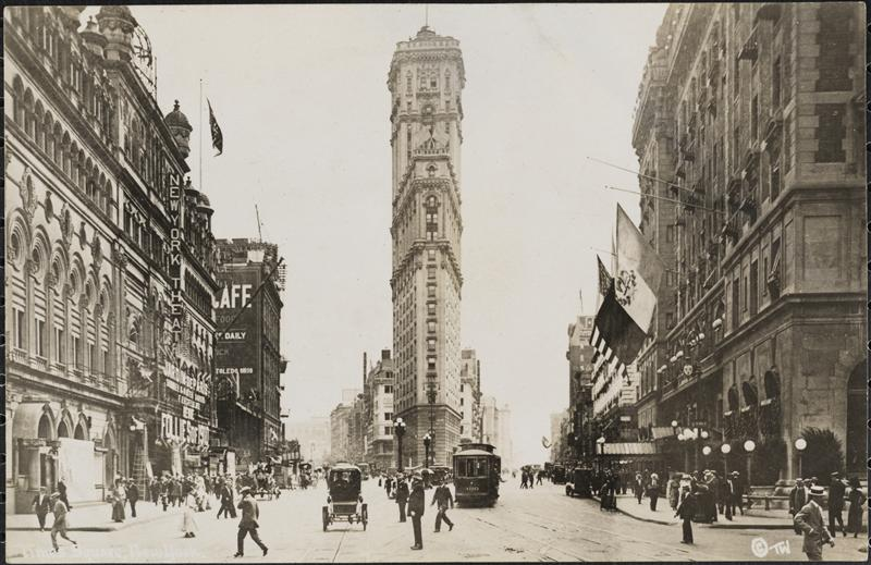 historical novelTimesSquare1915CMNY Thaddeus Was Here