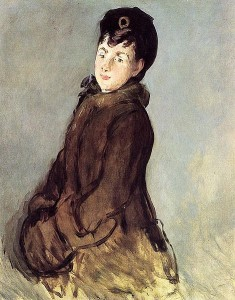 historical novelIsabelle Lemonnier with a Muff Painted by Manet 1879 235x300 A Brief History of the Fur Muff