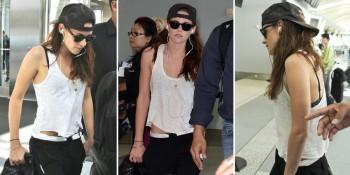 Kristen-Stewart-wearing-a-baseball-cap