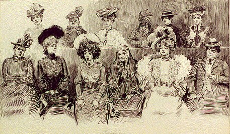 WHEN WOMEN ARE JURORS by Charles Dana Gibson