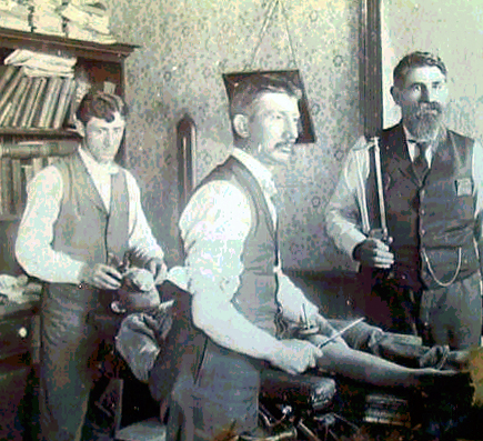 An amputation about to begin circa 1890.