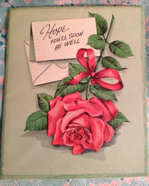historical novelVintage Greeting Card Get Well Hope youll soon be well 300x375 Vintage Greeting Cards For Everyone Down with the Flu