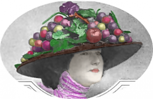 historical novelfruit vegetable hat the american magazine1 300x195 Edwardian Hat Fashion Goes to the Birds