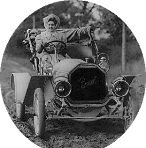 historical novelwoman driving buick 1907 cropped 300x304 Edwardian Hat Fashion Goes to the Birds