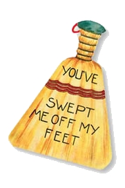 historical novelvalentine broom Happy Vintage Valentines Day