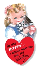 historical novelvalentine kitten Happy Vintage Valentines Day