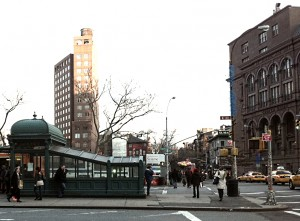 historical novelAstor Place west subway 300x221 Astor Place in the East Village of New York