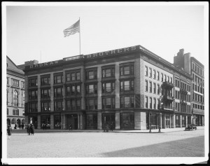 Same site, Brokaw Brothers Clothing Store, 1915