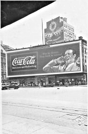 historical novelastor place coke ad 1936 Astor Place in the East Village of New York