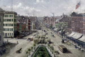 historical novelBowery looking south 1864 cropped 300x201 When Astor Place was a Riot