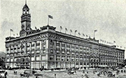 Siegel Cooper Department Store on Sixth Avenue and 17th Street when it opened in 1899