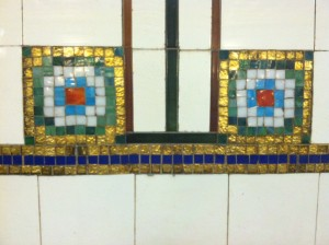 Beautiful tiles on the wall.