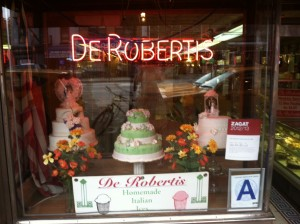 De Robertis in the East Village a few weeks ago