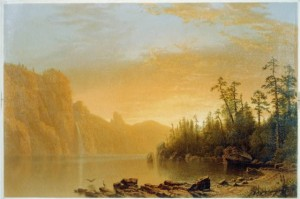 Albert Bierstadt painting of sunset in California 1864