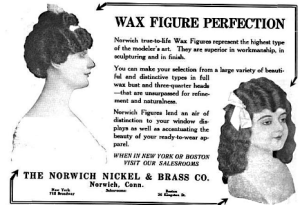 Wax Figure Advertisement